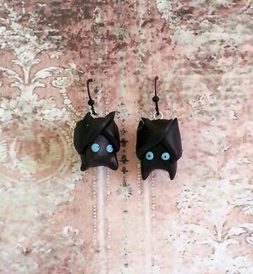 Just batty hanging earrings