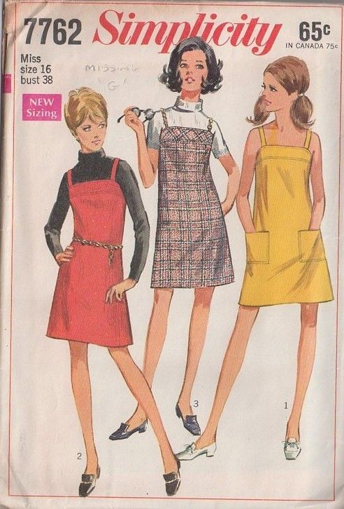 MOMSPatterns Vintage Sewing Patterns - Simplicity 7762 Vintage 60's Sewing Pattern SO COOL Chains for Straps Mod Summer Mini Jumper, Sundres...    Sewing is good and very useful. You may be experienced or novice in this matter, but you can achieve good results in any way. Trust yourself. Let's watch a little video first, and we'll have more fun.:    How about forty-one patchwork pillow planting?  Kirkyama patchwork is one o... #60s #MOMSPatterns #Patte #Patterns #Sewing #Simplicity #Vintage