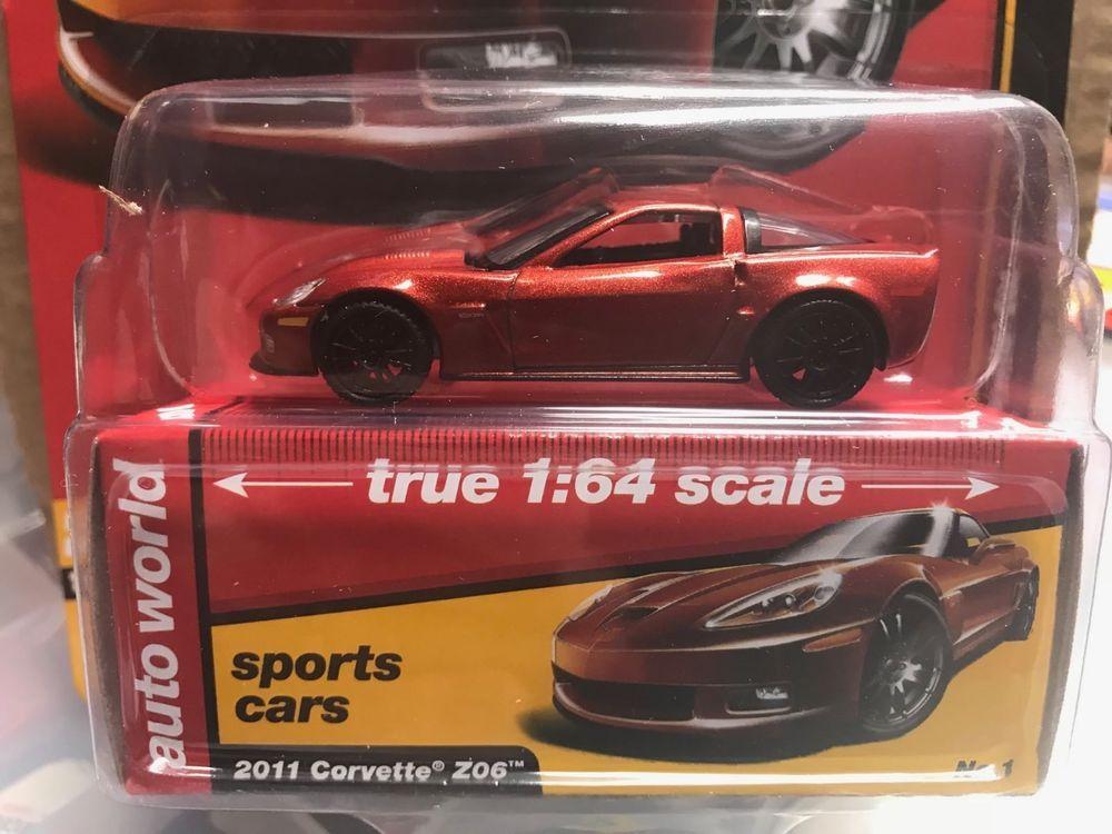 2018 AUTO WORLD 1:64 *PREMIUM 1A* ORANGE 2011 Corvette Z06 *NIP*