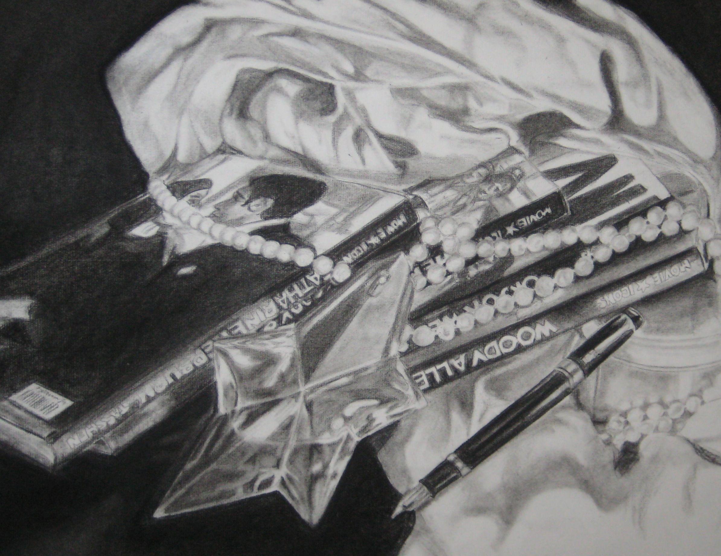 Inma Alabajos,  dibujo carboncillo