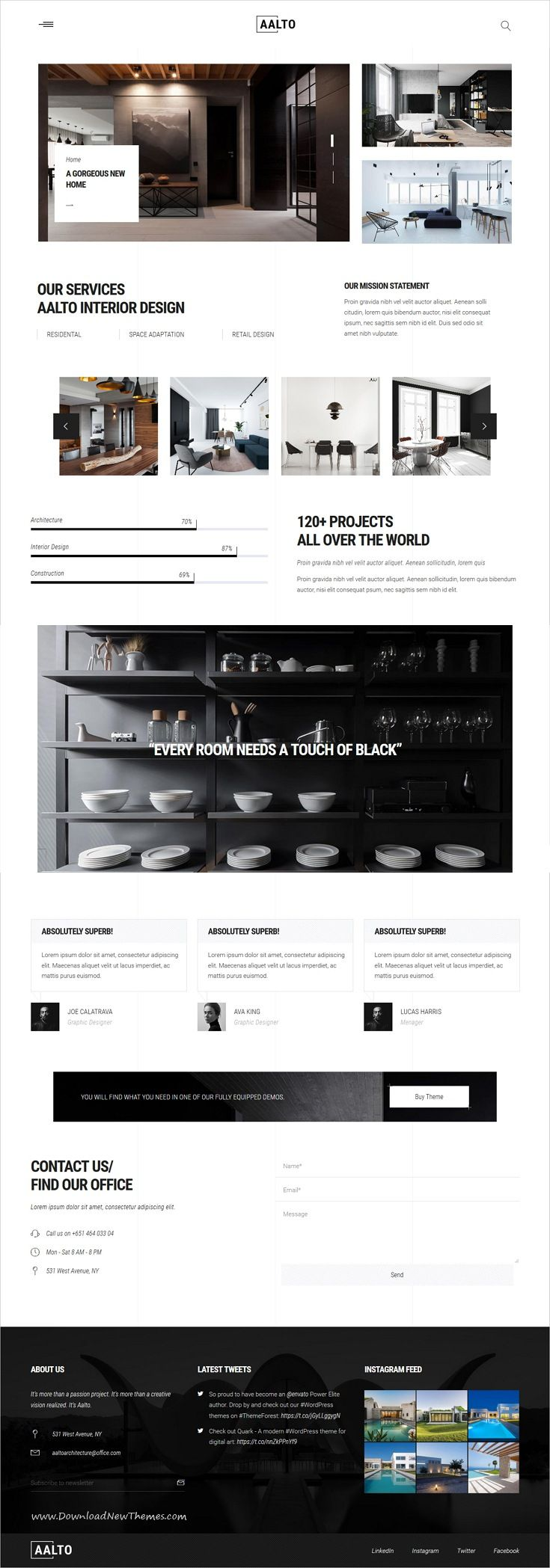 Aalto is clean and modern design responsive WordPress #theme for ...