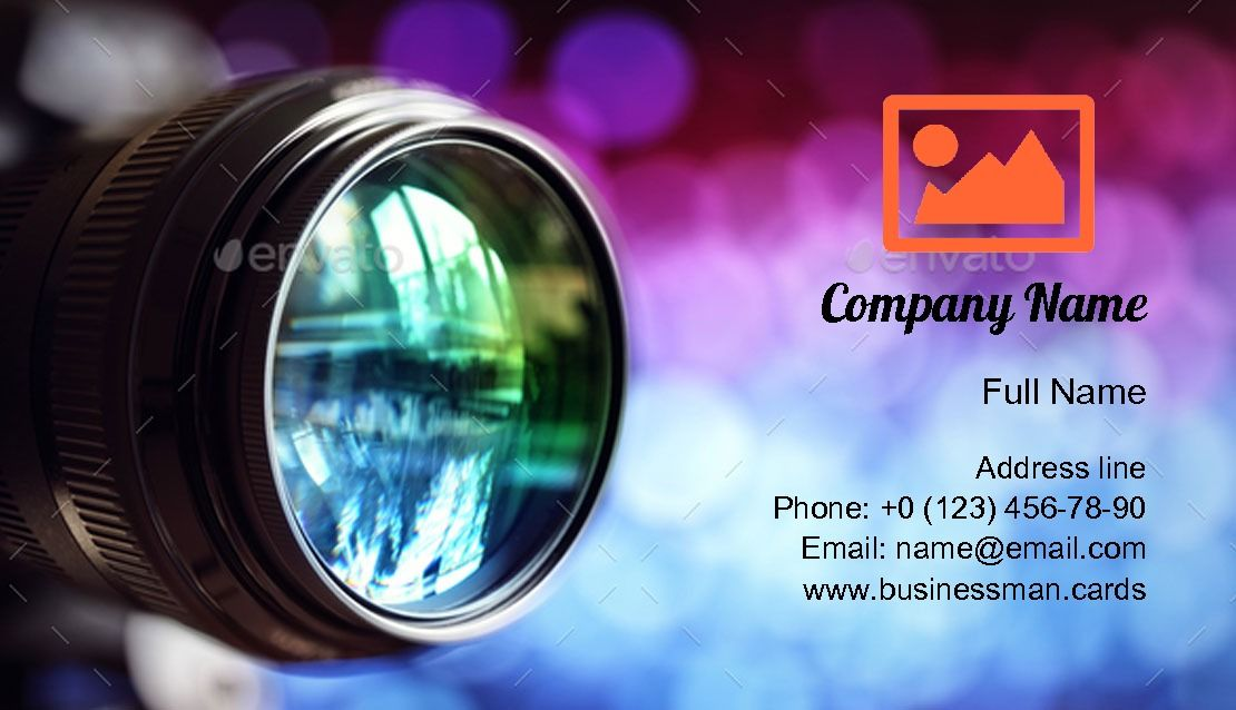Digital Camera Lens Business Card Template Business Card Template Card Template Digital Camera Lens