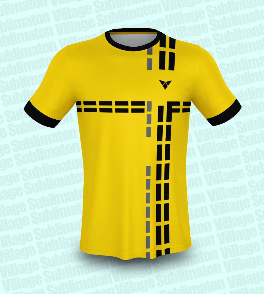 Download Yellow Black Grey Rectangle Soccer Jersey Design Jersey Design Yellow Black Soccer Jersey