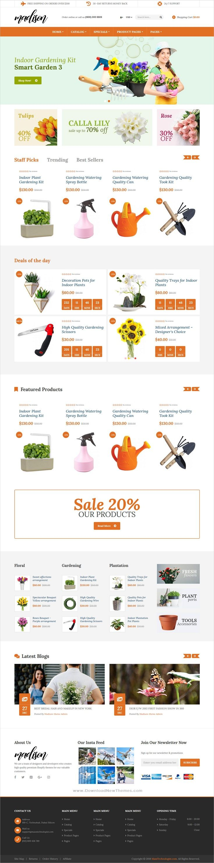 Madison Is A Clean And Modern Design 9in1 Responsive Shopify