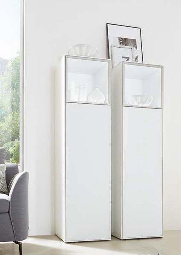 Einfach stylish! Die weiße Vitrine von Wöstmann bietet zeitlose - wohnzimmer möbel höffner