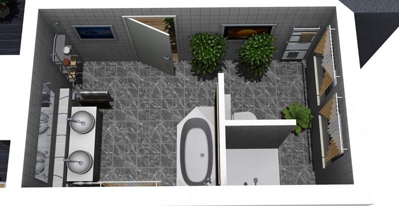 badezimmer grundriss ideen | moderne badezimmer | wohnen, Badezimmer dekoo