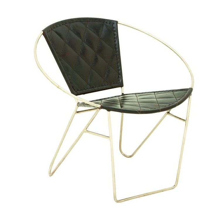 Metal and Leather Papasan Chair   Products   Pinterest