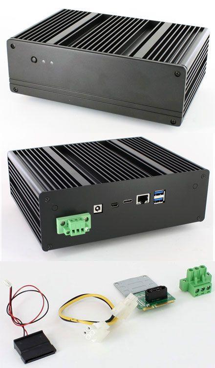Blackpete-NUC V2 enclosure (for Intel D54250WYB/D34010WYB, 2x 2 5