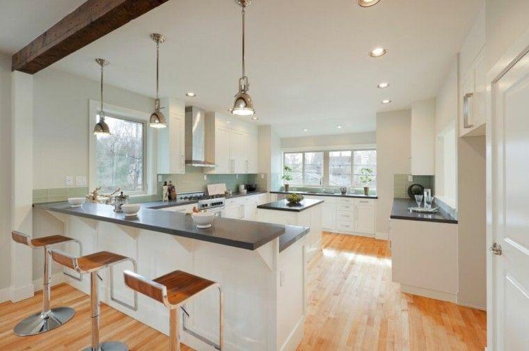 cocina-blanca-estilo-minimalista-encimeras-granito-negro.jpg 760×505 ...