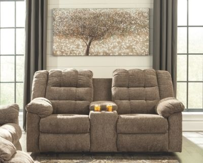 Marvelous Workhorse Reclining Loveseat With Console Cocoa Products Forskolin Free Trial Chair Design Images Forskolin Free Trialorg