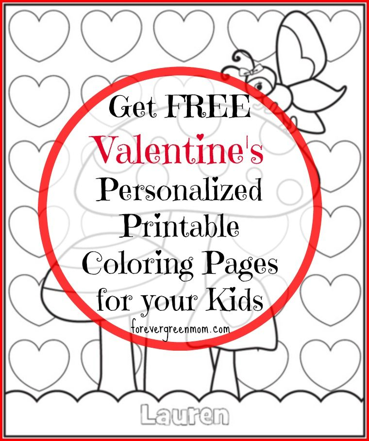 - Free Valentine's Personalized Printable Coloring Pages Family Valentine Coloring  Pages, Personalized Valentines, Printable Coloring Pages