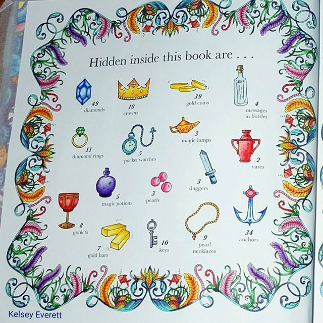 Johanna Basford S Lost Ocean Coloring Book Colored By Kelsey Everett I Used De Lost Ocean Coloring Book Johanna Basford Lost Ocean Johanna Basford Coloring