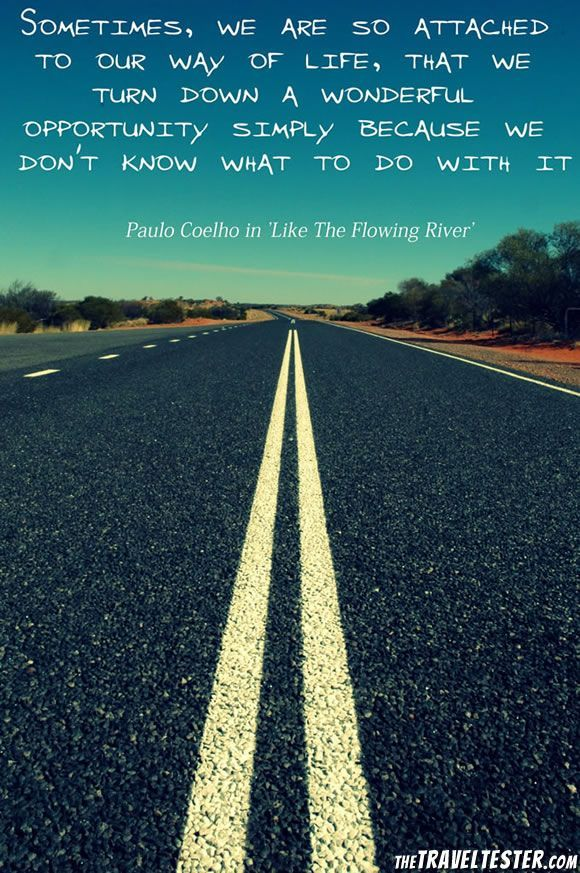 Opportunity Travel Quote by Paulo Coelho #1: 680d f4b78e a6c648e90e33