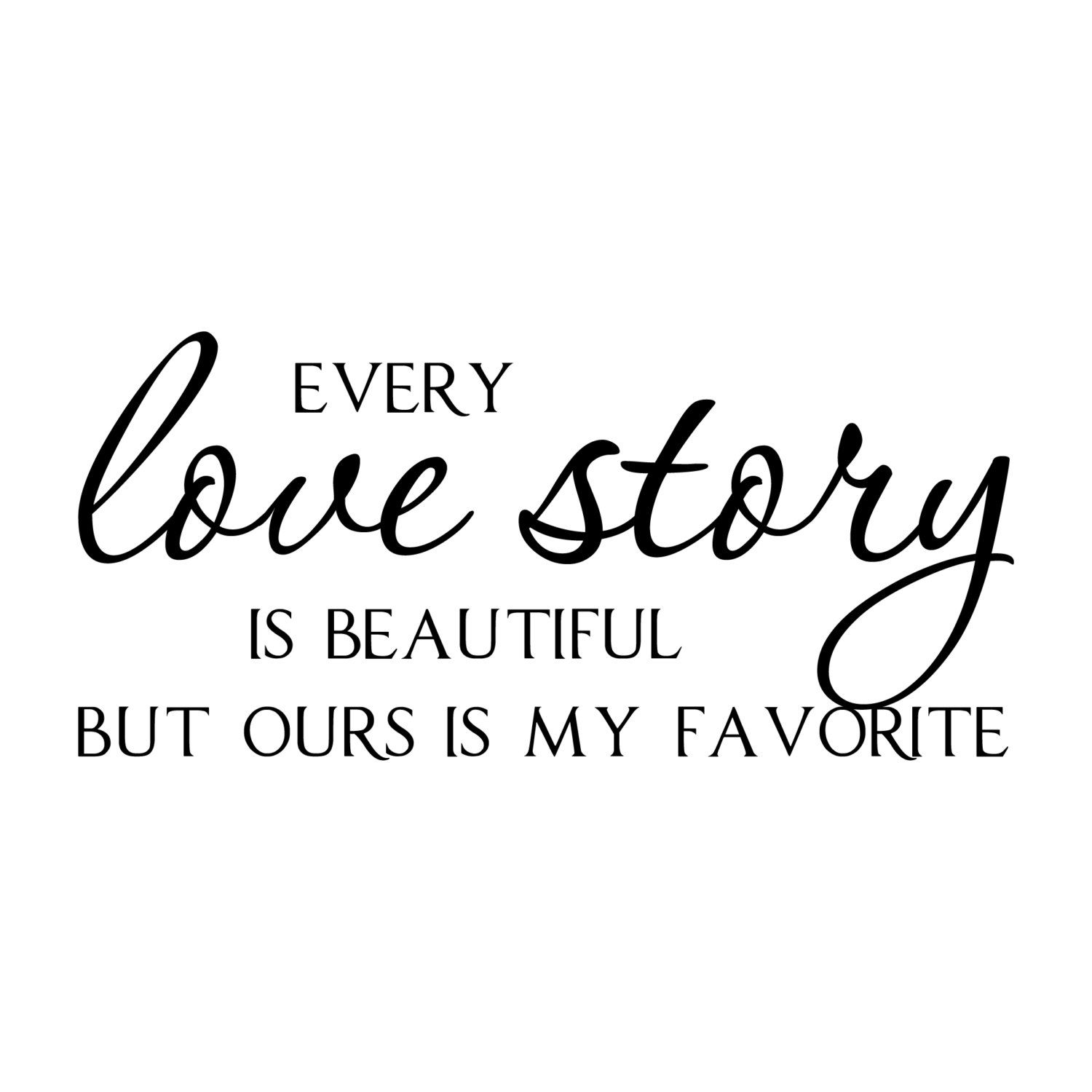 """Vinyl Wall Art Decal Family Is Everything 10/"""" X 30/"""" Modern Cursive Love Quote Fo"""