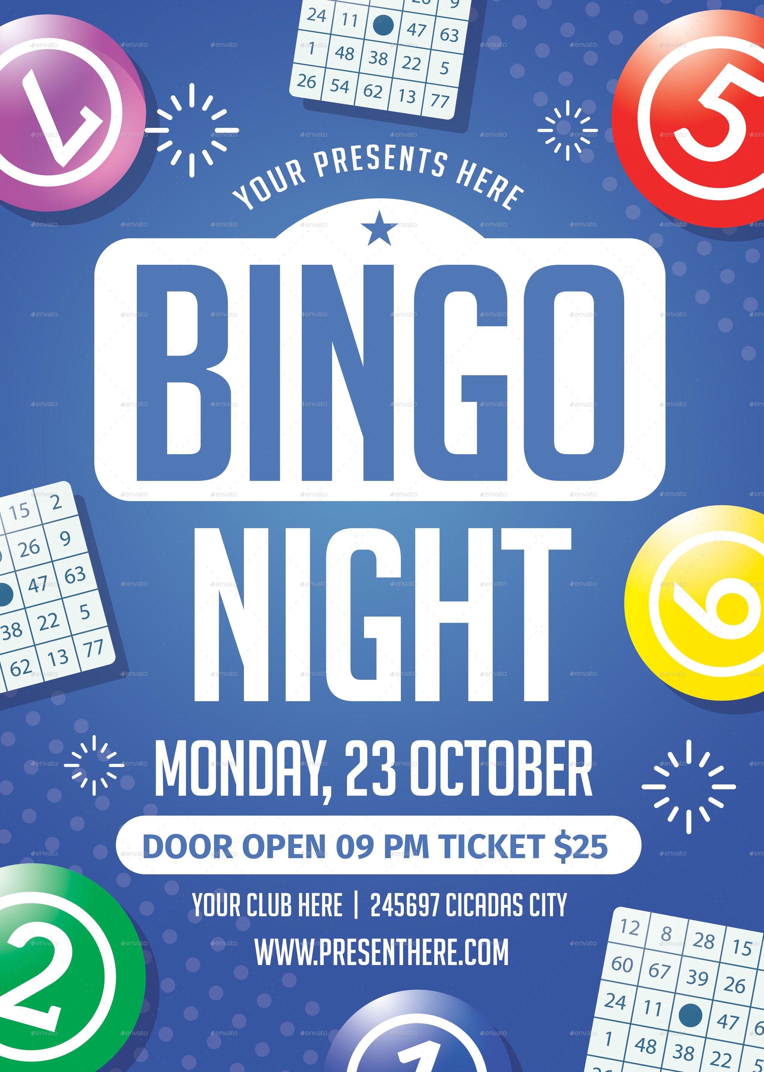 Bingo Night Flyer Bingo Night Fundraiser Flyer Trivia Night Flyer