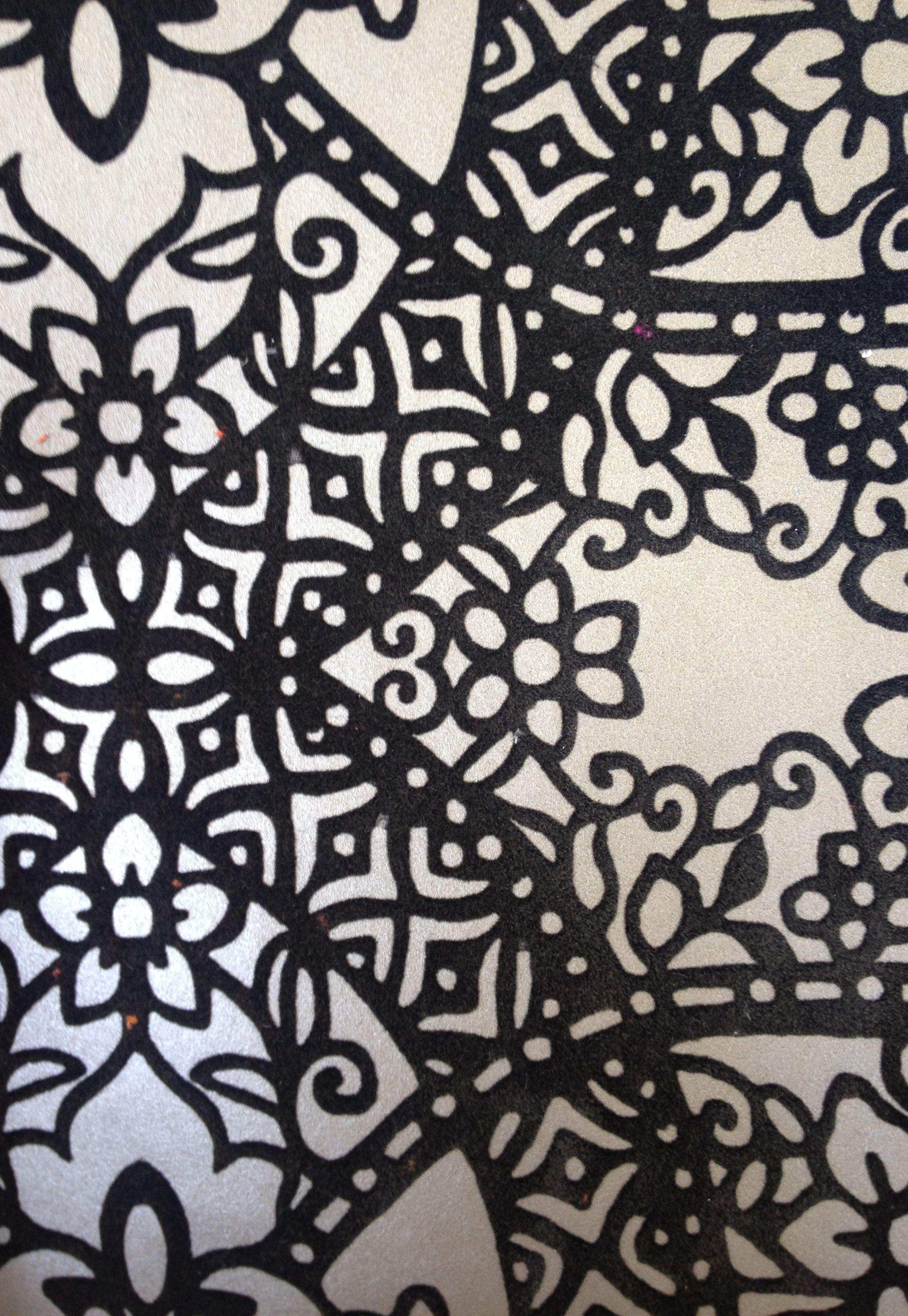 ROMO Black Edition Byzantine Flock Wallcovering Charcoal W364 02