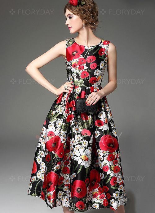 Kleid schwarz weiss midi