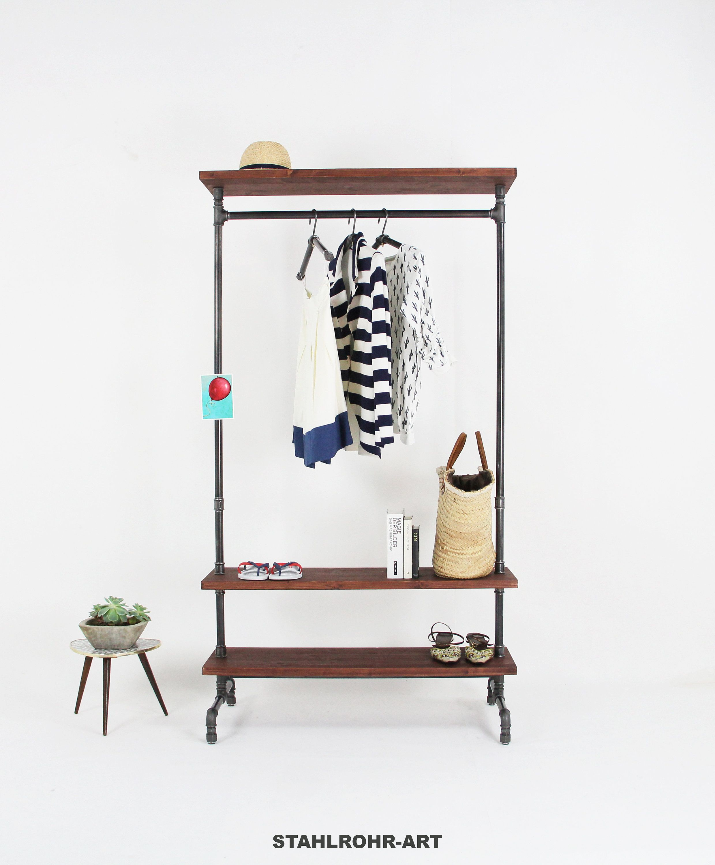 Kleiderständer Rohre Clothing Rod Steel Tube Wardrobe Shoe Rack And Hat Rack