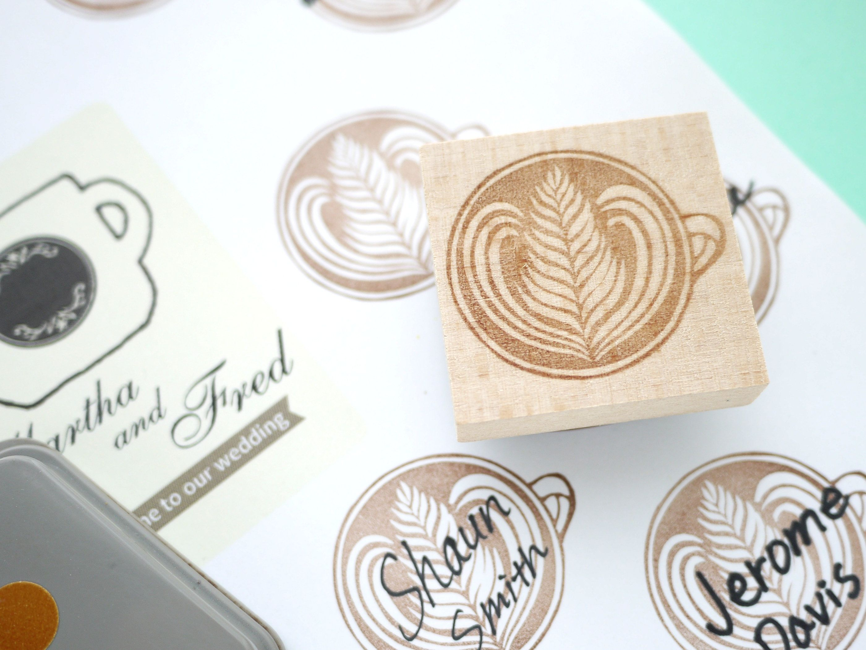 Pin By Japanese Rubber Stamps On Japaneserubberstamps Coffee Wedding Wedding Stamp Coffee Theme