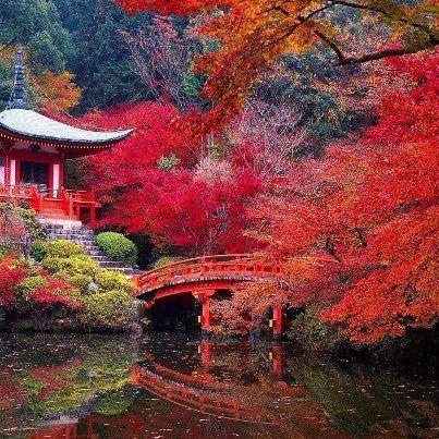 DAIGO-JI TEMPLE IN AUTUMN. KYOTO-JAPAN.