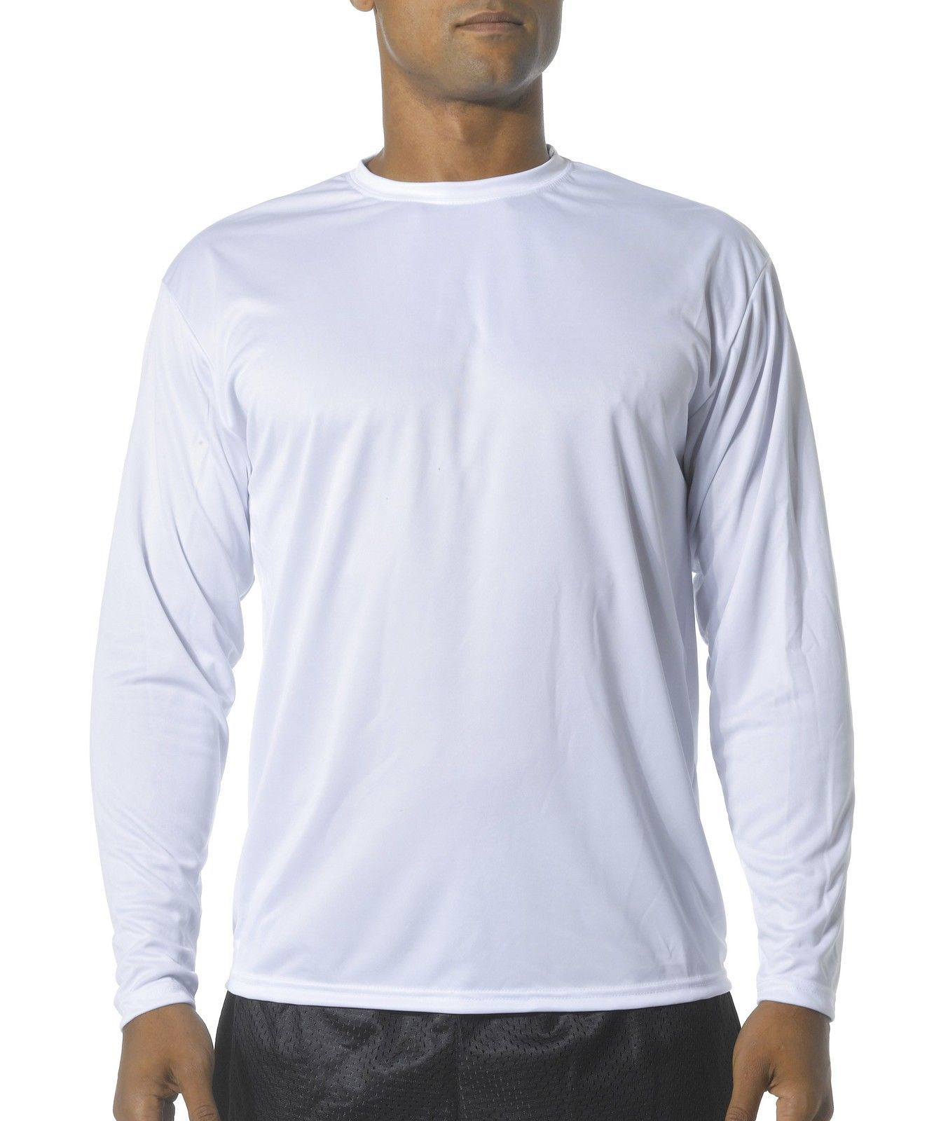 Details About A4 Men S Long Sleeve Cooling Performance Polyester