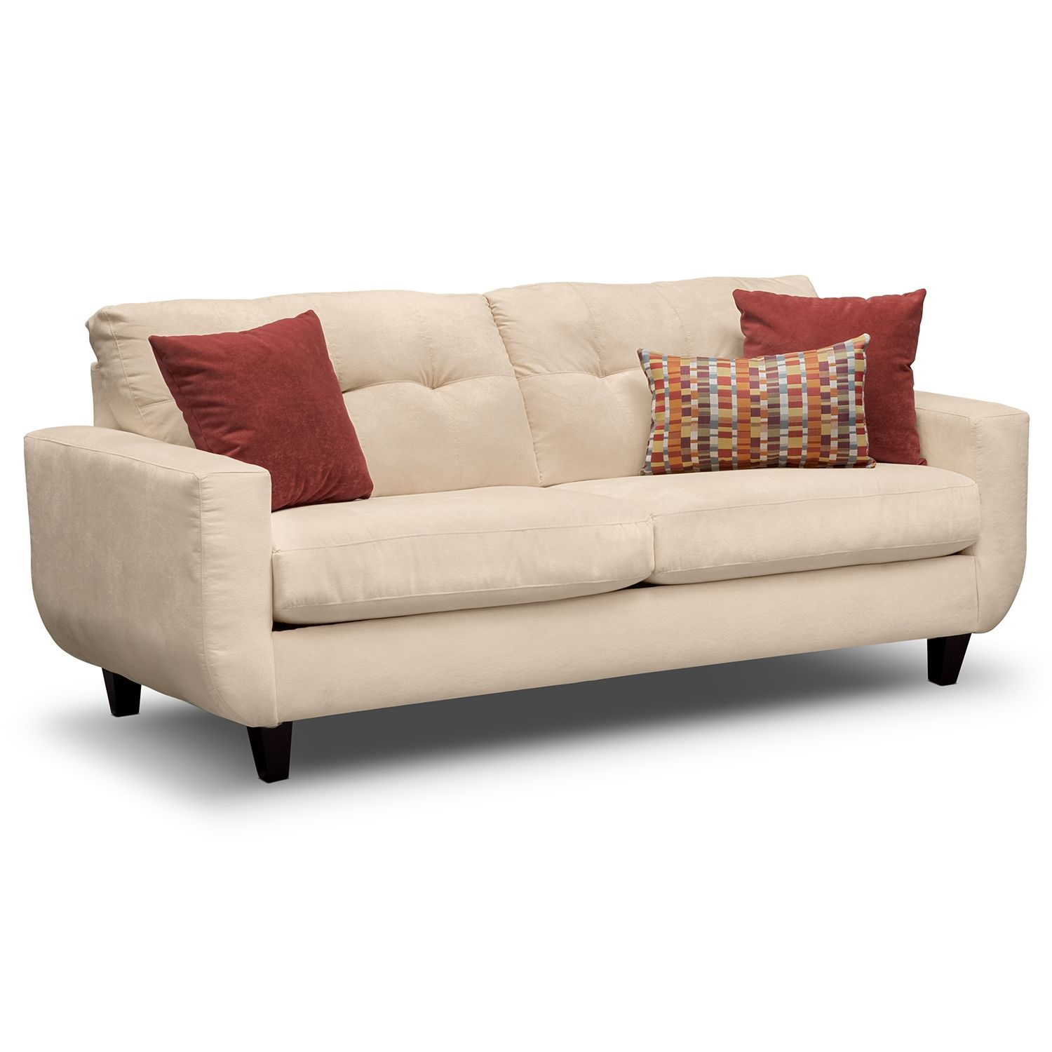 West Village Cream Sofa Value City Furniture