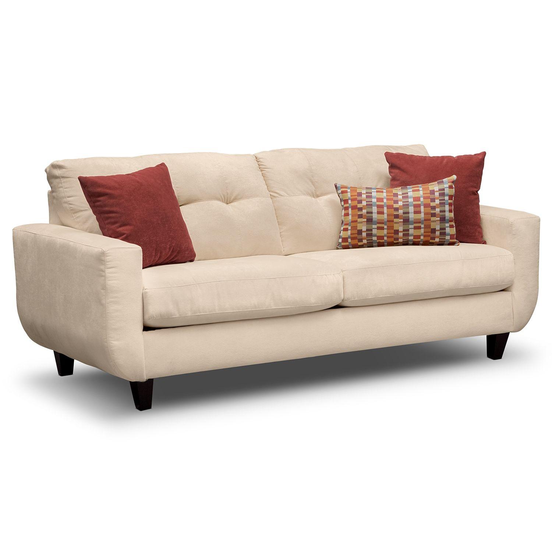 West Village Cream Sofa | Value City Furniture | Furniture ...