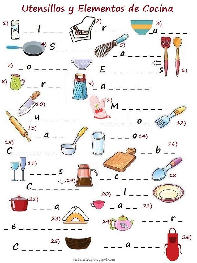 Cocina Sopas De Letras Para Imprimir Gratis Crucigrama Para Niños Cocina Para Niños Taller De