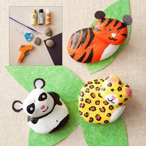 Linda idea! Animalitos hechos de piedras pintadas!