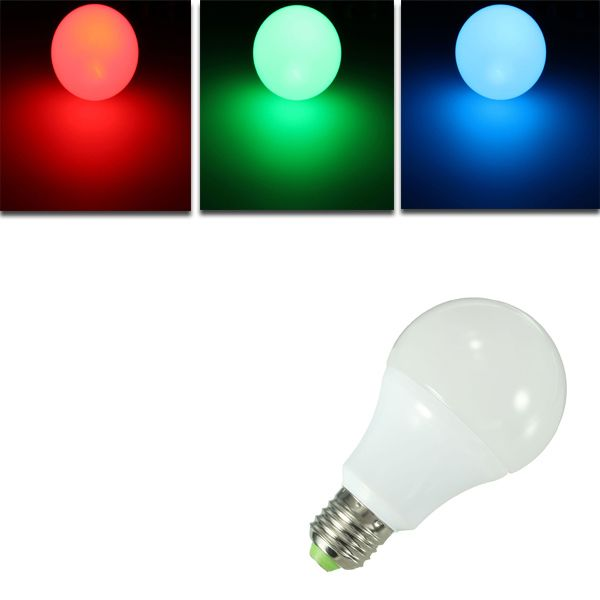 E27 10W RGB 16 Color LED Globe Bulbs RGB LED Light With 24Key Rmote