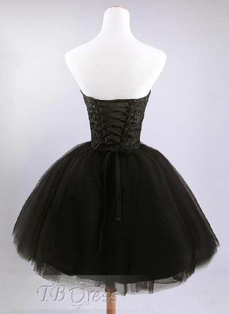 Back of black dress