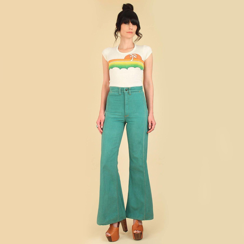 388a141de966 Red Snap Bell Bottoms Jeans Talon Zipper 1970s 70s hippie boho hellhound  vintage hellhoundvintage jeans denim bell bottom elephant bell
