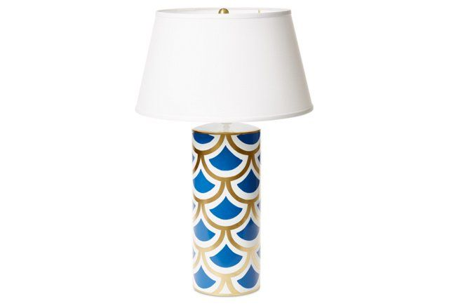 Exclusive Sanibel Table Lamp, Blue