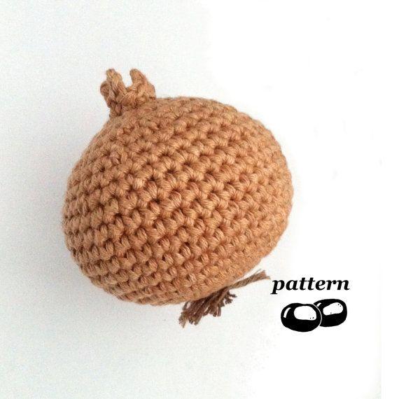 Crochet Onion Pattern Crochet Vegetable Pattern Crochet Food