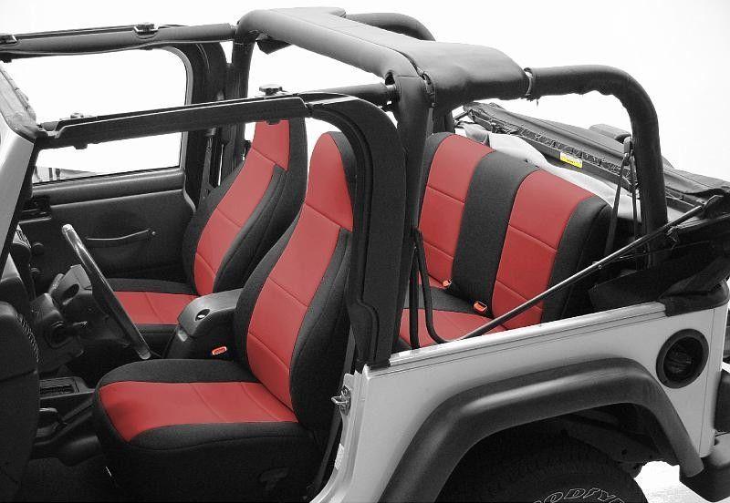 Coverking CR Grade Neoprene Custom Fit Seat Covers For Jeep Wrangler TJ  97 02