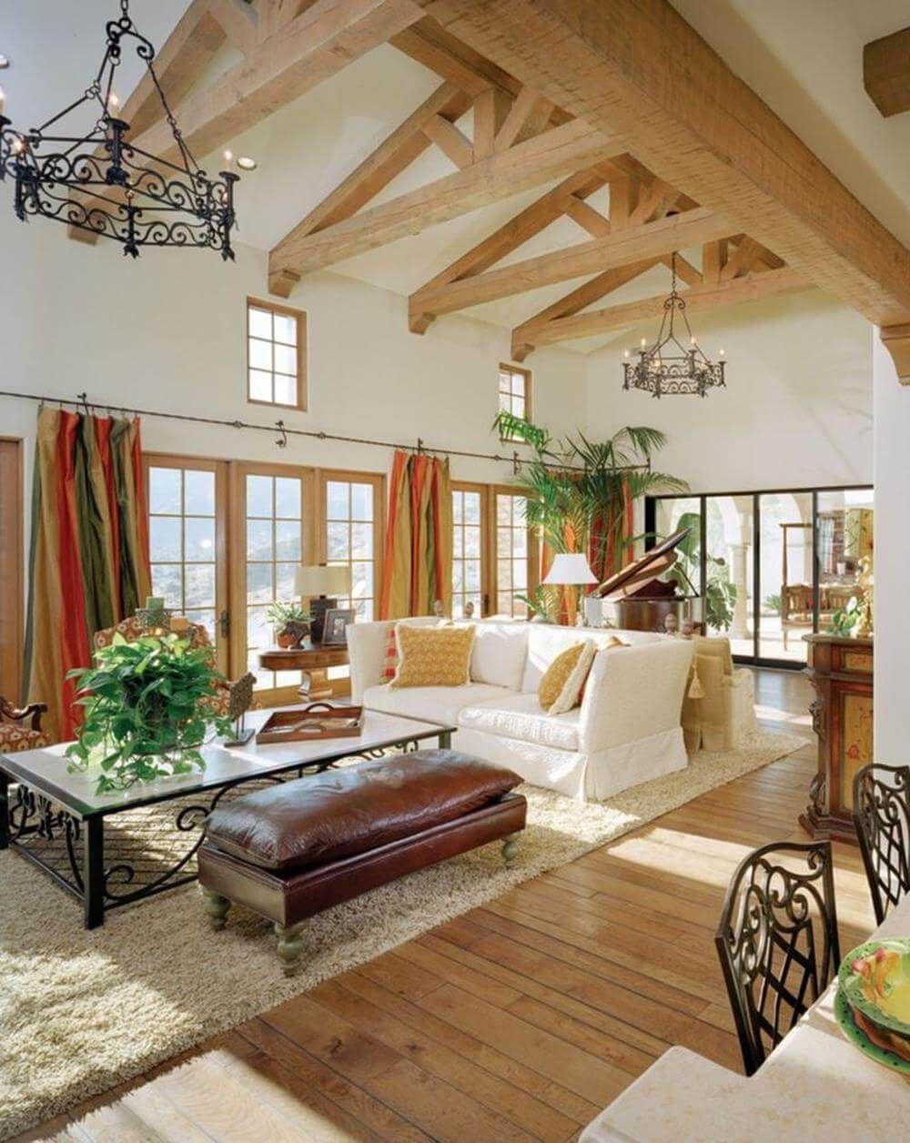 34 Stunning Mediterranean Living Room Decorating Ideas