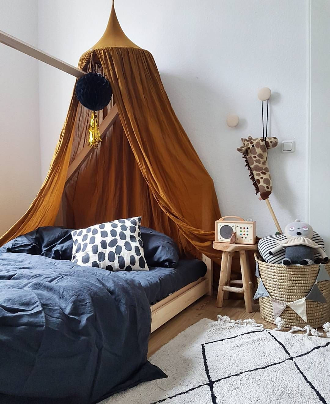 Luxury Blue Canopy for Bed