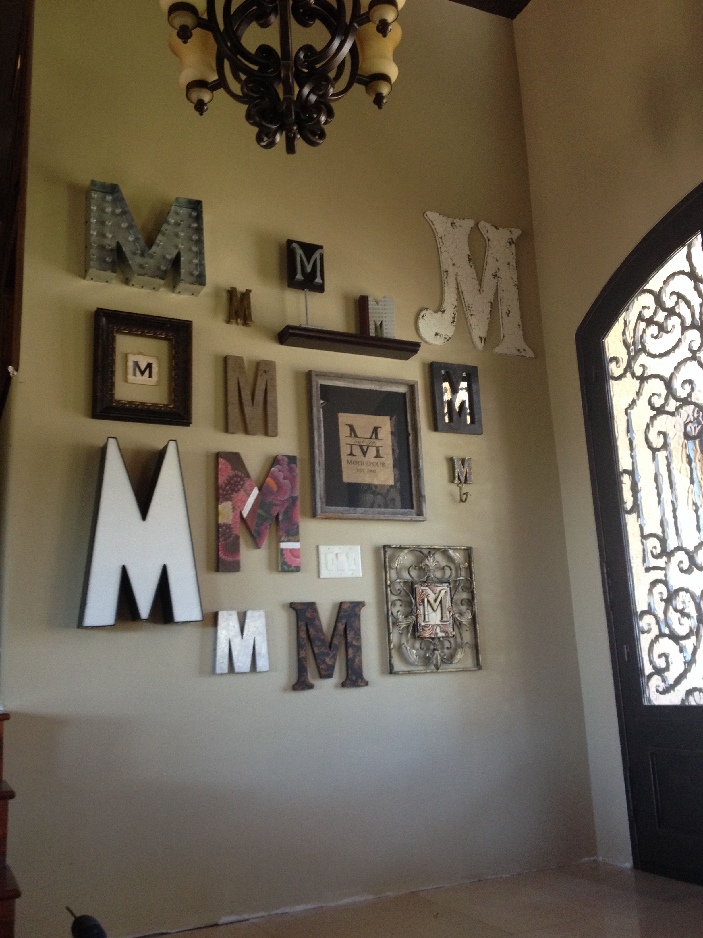 Home Interior Wall Decorations Monogram Wall For The Home Home Decor Letter Wall