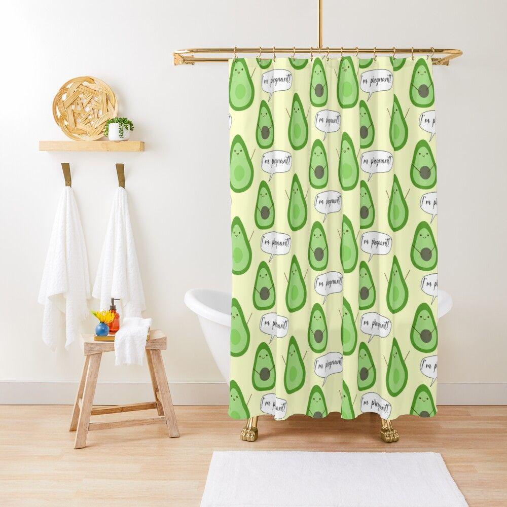 Funny Avocado Cartoon Shower Curtain By Jhsells98 Redbubble In 2020 Avocado Cartoon Curtains Shower Curtain