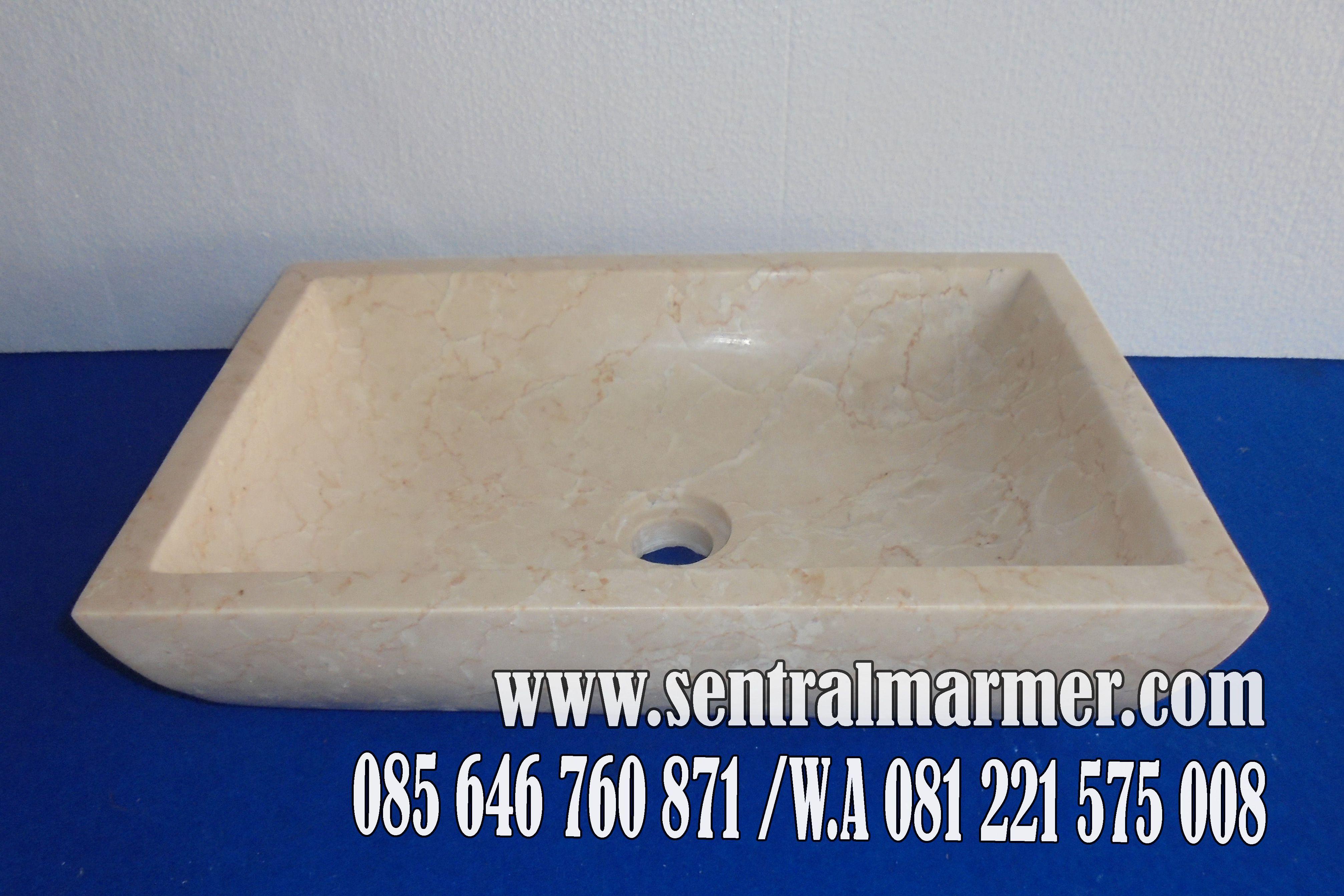 Jual Wastafel Marmer Kotak
