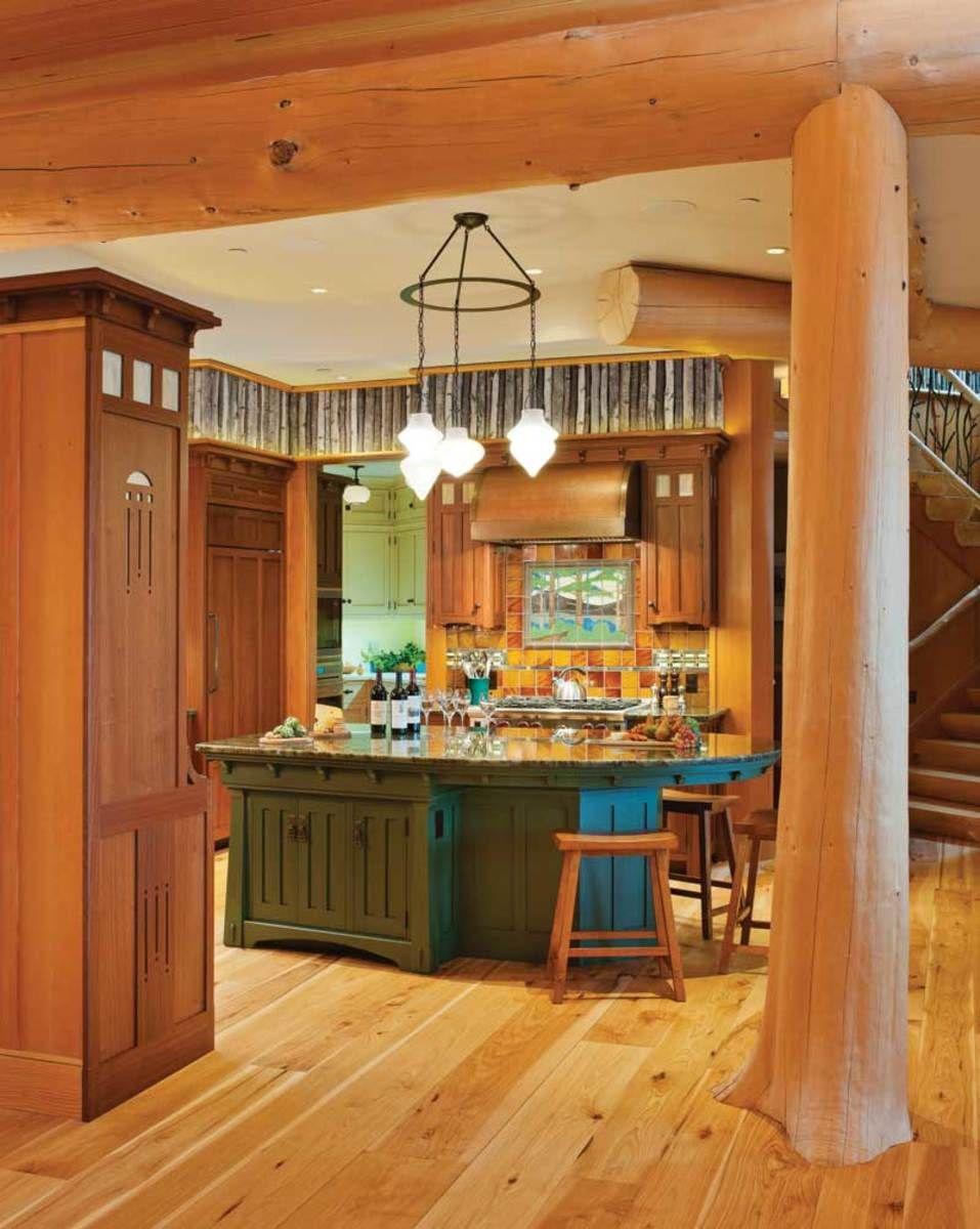 Two Arts Crafts Kitchens Bungalow Basic Adirondack Spirit Kitchen Craft Cabinets Artistic Kitchen Bungalow Kitchen