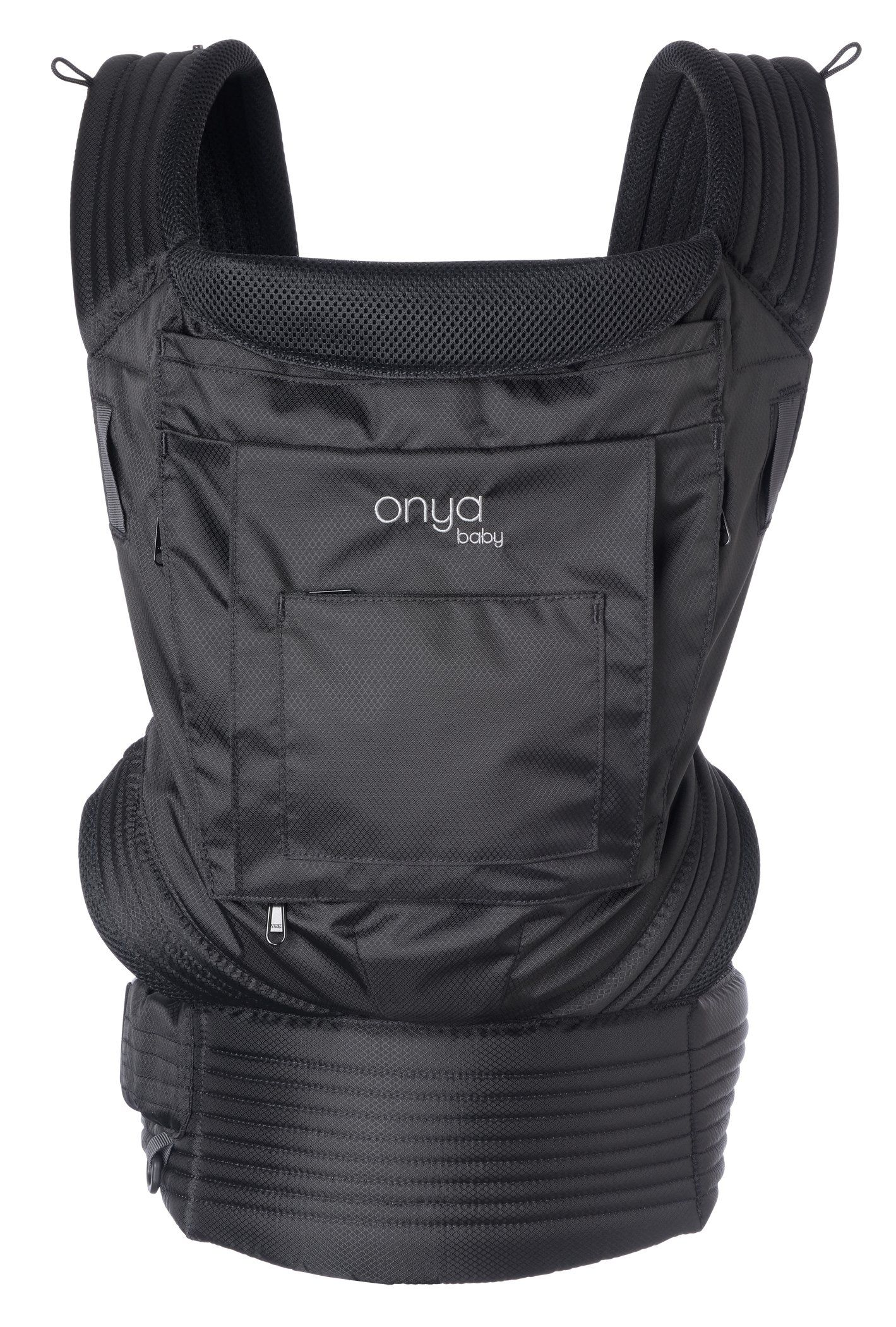 ya Baby Outback Baby Carrier Jet Black Ergonomic soft structured baby carrier with 3