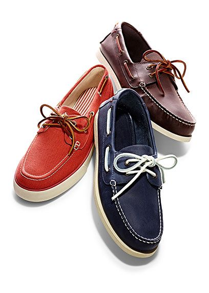 Leather boat shoes, Marshalls shoes