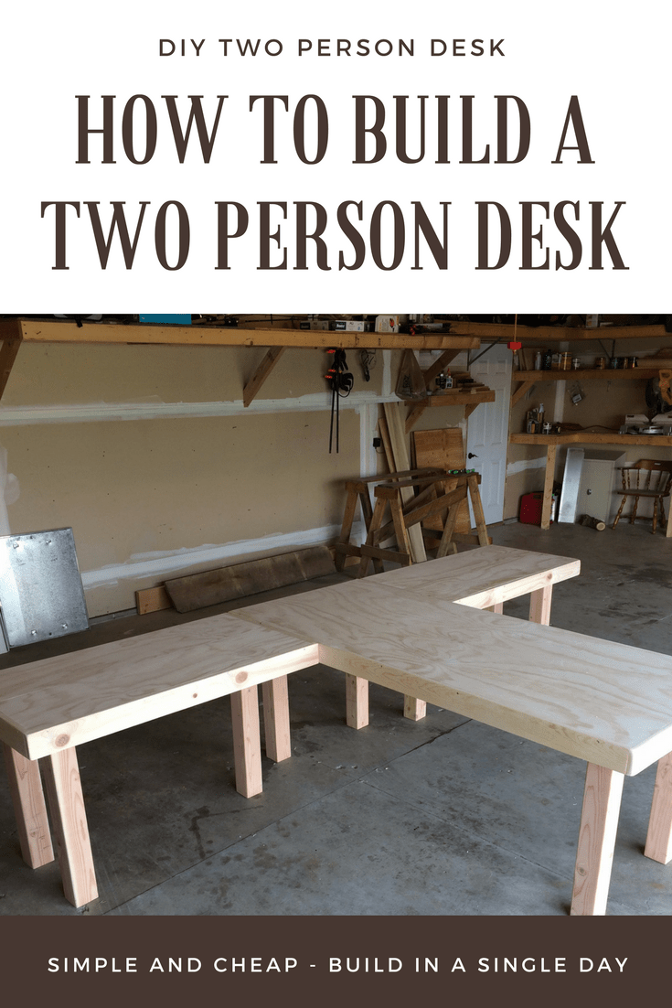 How To Build A Two Person Desk Diy Wood Office Desk Office