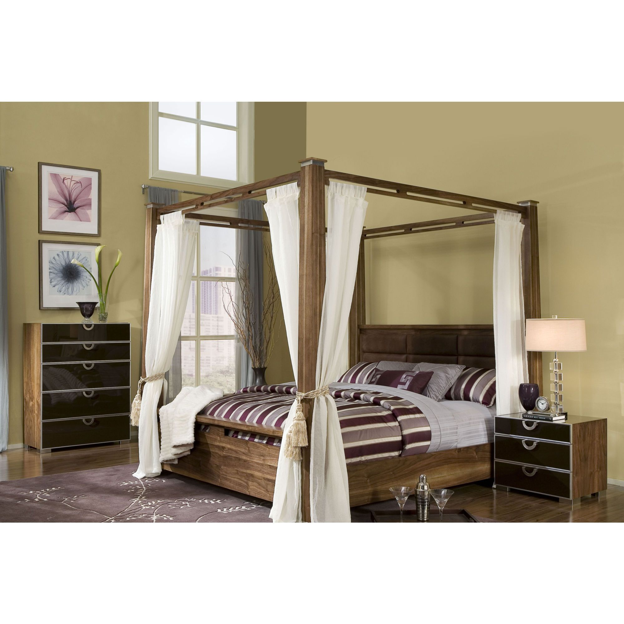I like modern takes on canopies Bed design, Bedroom