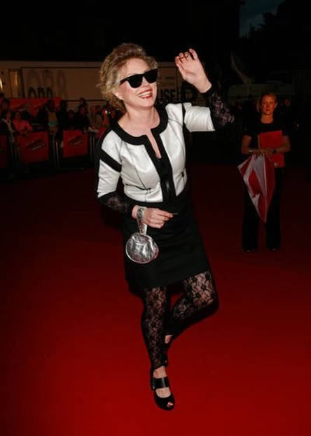 Debbie arriving at the Vodaphone Music Awards 2007