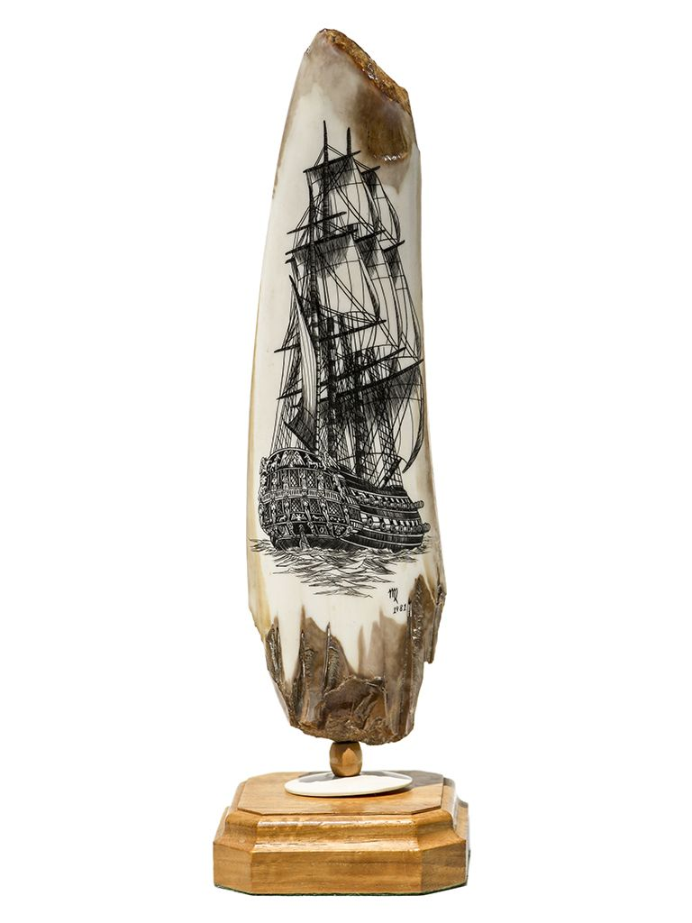 Warship Stern View in 2019 | Scrimshaw | The collector, Ivory, Vintage
