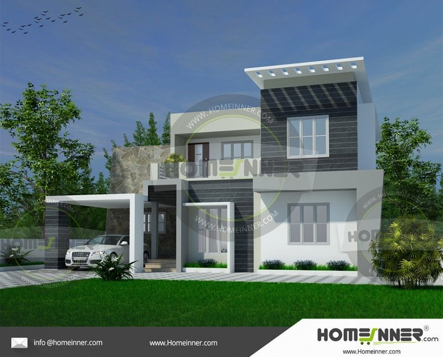 Two Story 4 Bedroom House Style in India