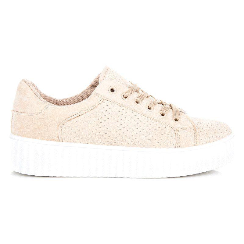 Seastar Zamszowe Trampki Na Platformie Brazowe Shoes Sneakers Converse Sneaker