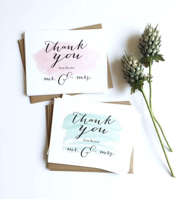 Cartão de agradecimento para os convidados Cartões de
